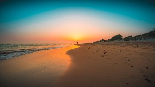 Andalusie zonsondergang strand