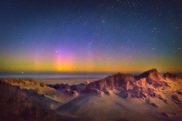 Les aurores boréales dans les dunes vivantes.