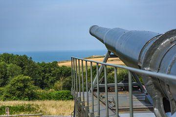 Krupp K5 kanon te Batterij Todt aan Het Kanaal bij Cap Gris-Nez van Mike Maes