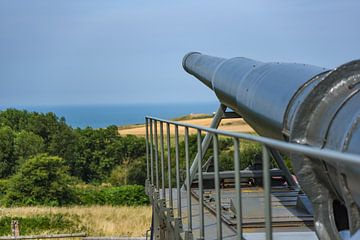 Krupp K5-Kanone zu Battery Todt am Kanal bei Cap Gris-Nez von Mike Maes