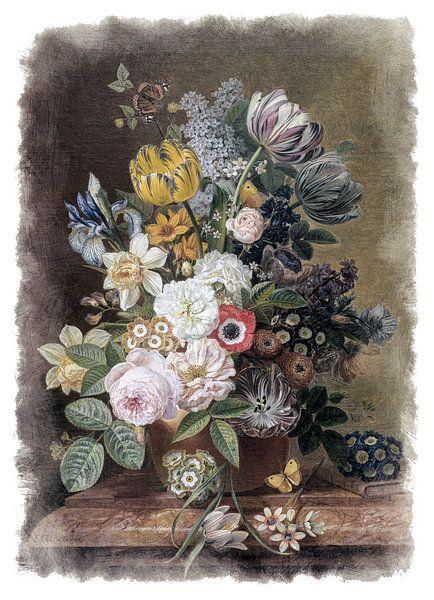 Oude Meesters serie #4 - Stilleven met bloemen, Eelke Jelles Eelkema van Anita Meis