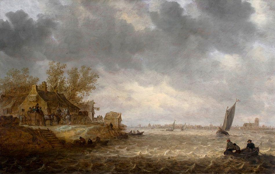 Jan van Goyen, Gezicht op Dordrecht vanuit Papendrecht
