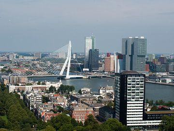 Skyline van Rotterdam van grote hoogte van P van Beek