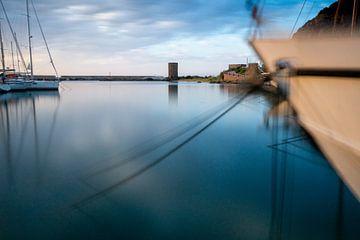 haven met boten lange belichtingstijd. van Eline Oostingh