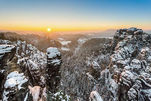 Winter dream Saxon Switzerland van Michael Valjak
