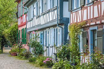 Fachwerkhäuser in der Altstadt von Frankfurt-Höchst van Christian Müringer