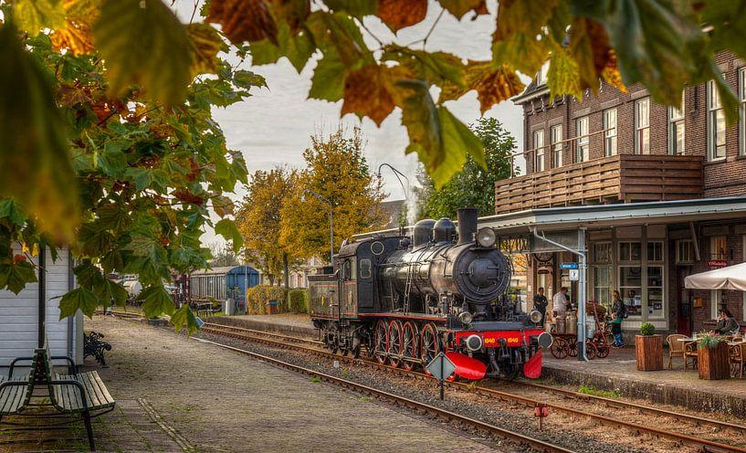 Stoomtrein op Station Simpelveld van John Kreukniet