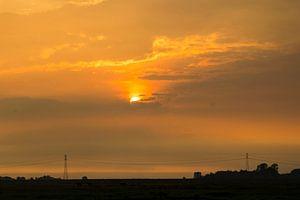 Zonsondergang in Arkemheen van Arthur Hooijer