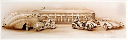 TEXACO Harley Davidson van