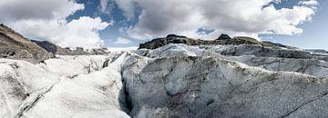 Svinafellsjokull gletsjer in Skaftafell Nationaal Park, IJsland van Sjoerd van der Wal