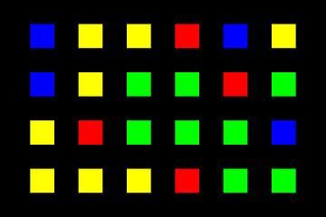 Nested | Center | 06x04 | N=01 | Random #02 | RGBY van Gerhard Haberern