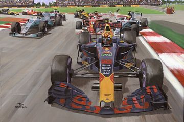 Max Verstappen snatches the lead in the 2017 Mexican GP by Toon Nagtegaal van Adam's World