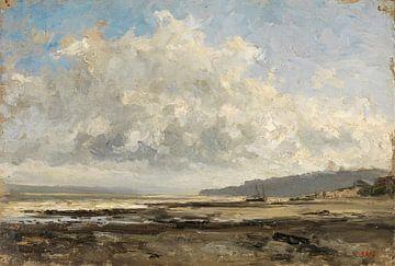 Carlos de Haes-Waterstrand landschap, kustlandschap, Antiek landschap