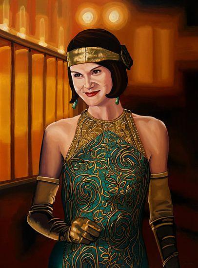 Downton Abbey Schilderij 2 Michelle Dockery as Lady Mary Crawly
