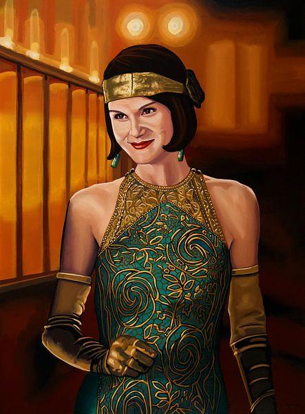 Downton Abbey Schilderij 2 Michelle Dockery as Lady Mary Crawly van Paul Meijering