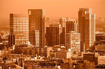 Hochhäuser Rotterdam Zentrum - einfarbig von Frans Blok