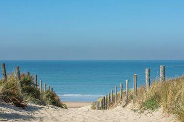 Dünenweg zum Strand von Zandvoort von John van de Gazelle