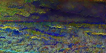 Unwetter über dem Meer van Harry Ucksche