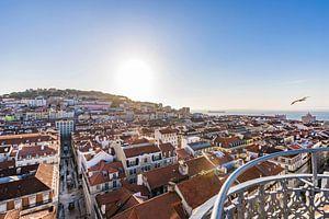 Gezicht op Lissabon van