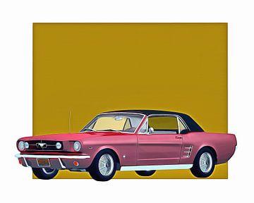 Oldtimer – Ford Mustang 1964 eingezogenes Dach von Jan Keteleer