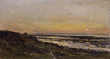 Der Strand von Villerville bei Sonnenuntergang, Charles-François Daubigny