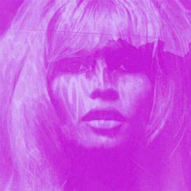 Brigitte Bardot - Lila - 24 Colours Game - I Pad Generation von Felix von Altersheim