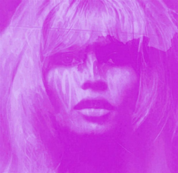 Brigitte Bardot - Lila - 24 Colours Game - I Pad Generation van Felix von Altersheim