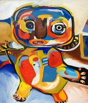 CoBrA stroming Man met organen van Nicole Roozendaal