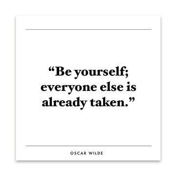 Inspiration Zitat | Oscar Wilde von Kirsten Langmuur