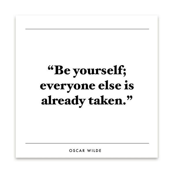 Inspiratie quote   Oscar Wilde van Kirsten Langmuur