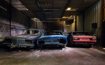 Opgeslagen Autowrakken. van Roman Robroek