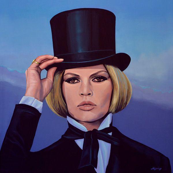 Brigitte Bardot  Blue Schilderij van Paul Meijering