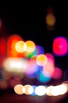 De lichten van Nathan Road, Hong Kong von André van Bel