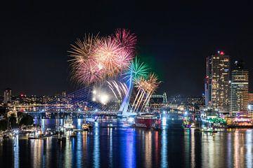 Vuurwerkshow Wereldhavendagen 2017 in Rotterdam van MS Fotografie | Marc van der Stelt