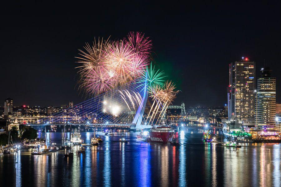 Vuurwerkshow Wereldhavendagen 2017 in Rotterdam