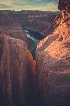 Zonsondergang bij Horseshoe Bend, Arizona, USA von Michiel Verweij