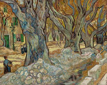 Les grands platanes (cantonniers de Saint-Rémy), Vincent van Gogh