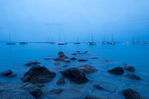 Blauw water II van