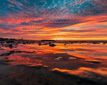 Ein farbenfroher Sonnenuntergang von Wesley Kole