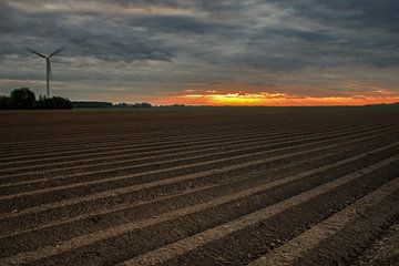 Zonsopkomst in de polder von Jos Reimering