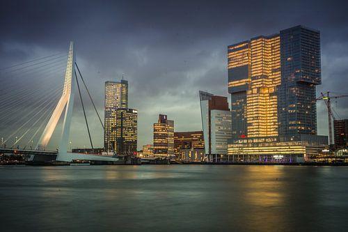 Skyline Rotterdam Pont Erasmus de Rotterdam Willemskade sur Manon Ruitenberg