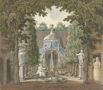 Theaterszene in einem Stadtgarten, Barend Hendrik Thier