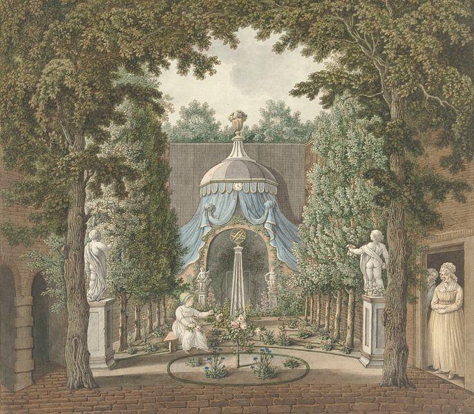 Theaterszene in einem Stadtgarten, Barend Hendrik Thier von Meesterlijcke Meesters