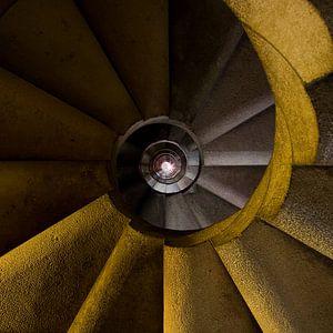 Sagrada Família staircase van Michiel Mos