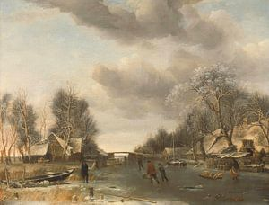 Wintergezicht, Jan van de Cappelle