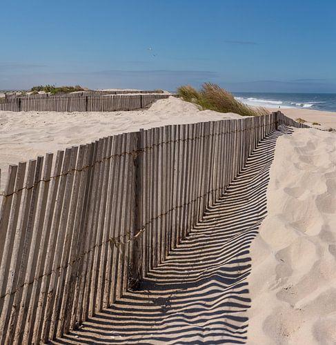 Praia da Costinha, atlantische kust,Costa Nova, Aveiro,Beira Litoral,Portugal van Rene van der Meer
