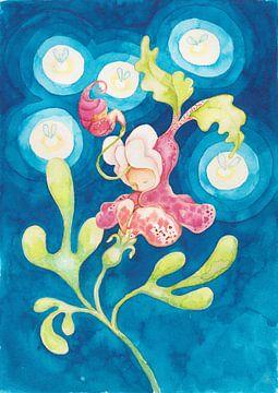 Feuerfliegen Nachtblume  von Anouk Maria van Deursen