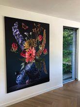 Klantfoto: Royal Flora (gezien bij vtwonen) van Sander Van Laar, als print op doek
