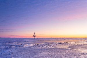 Beulaker Toren in het ijs van Wilko Visscher