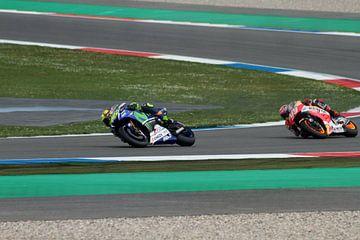 Valentino Rossi & Marc Márquez von Jacco Richters